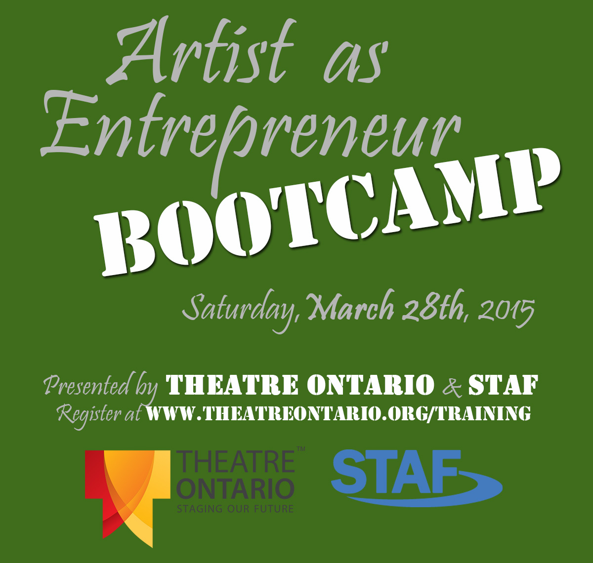 Artist as Entrepreneur Bootcamp –  with Theatre Ontario