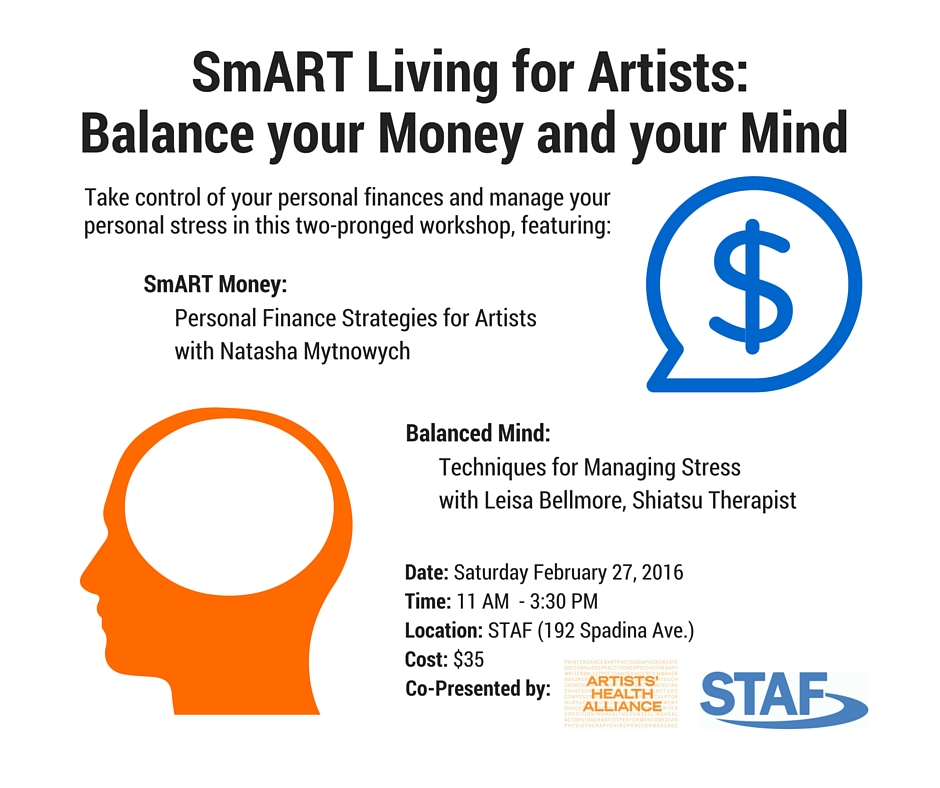 SmART Living for Artists -  with Artists' Health Alliance
