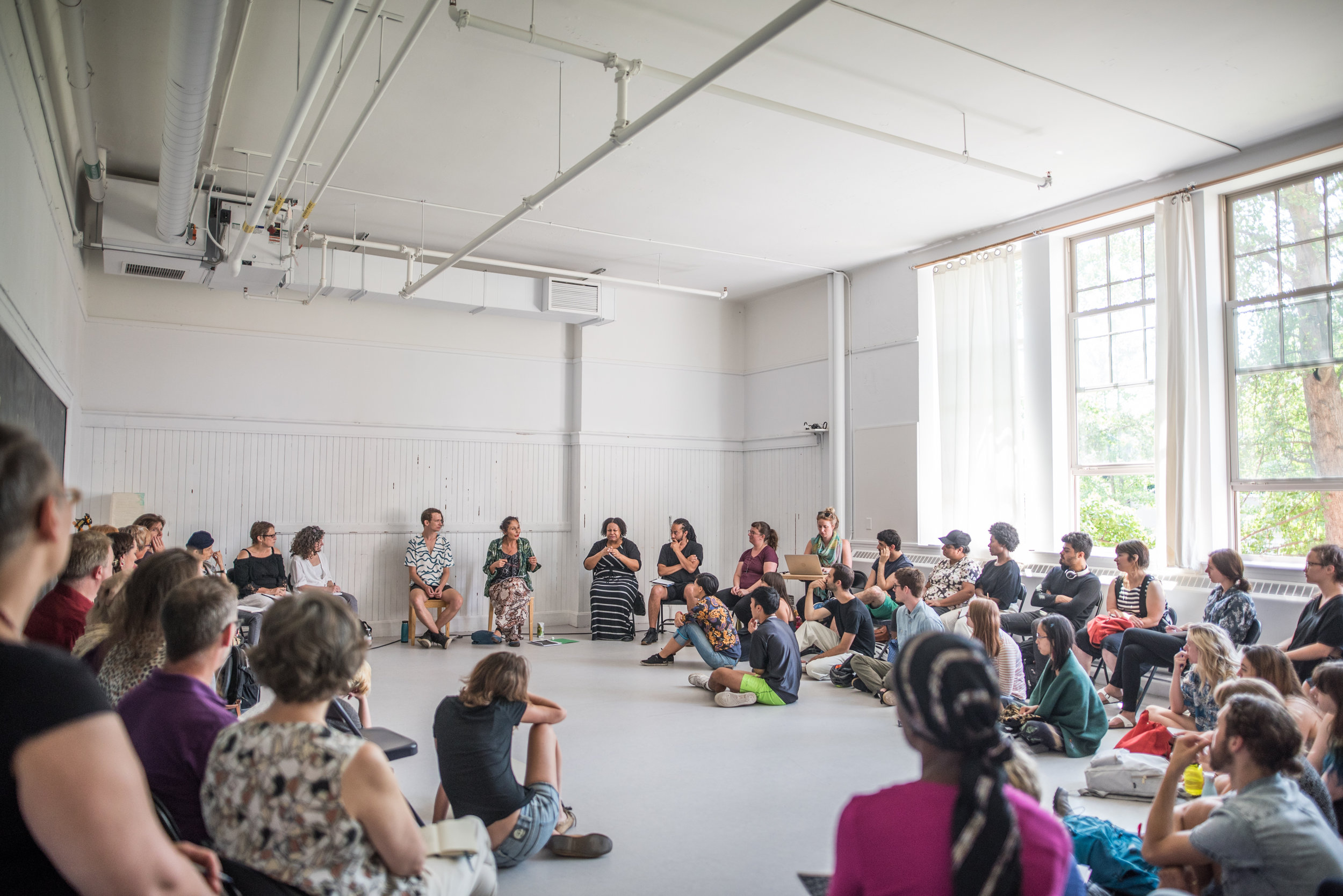 Photo by Dahlia Katz from our  (RE)conciliation: a workshop on integrating Indigeneity and decolonizing performance practice.