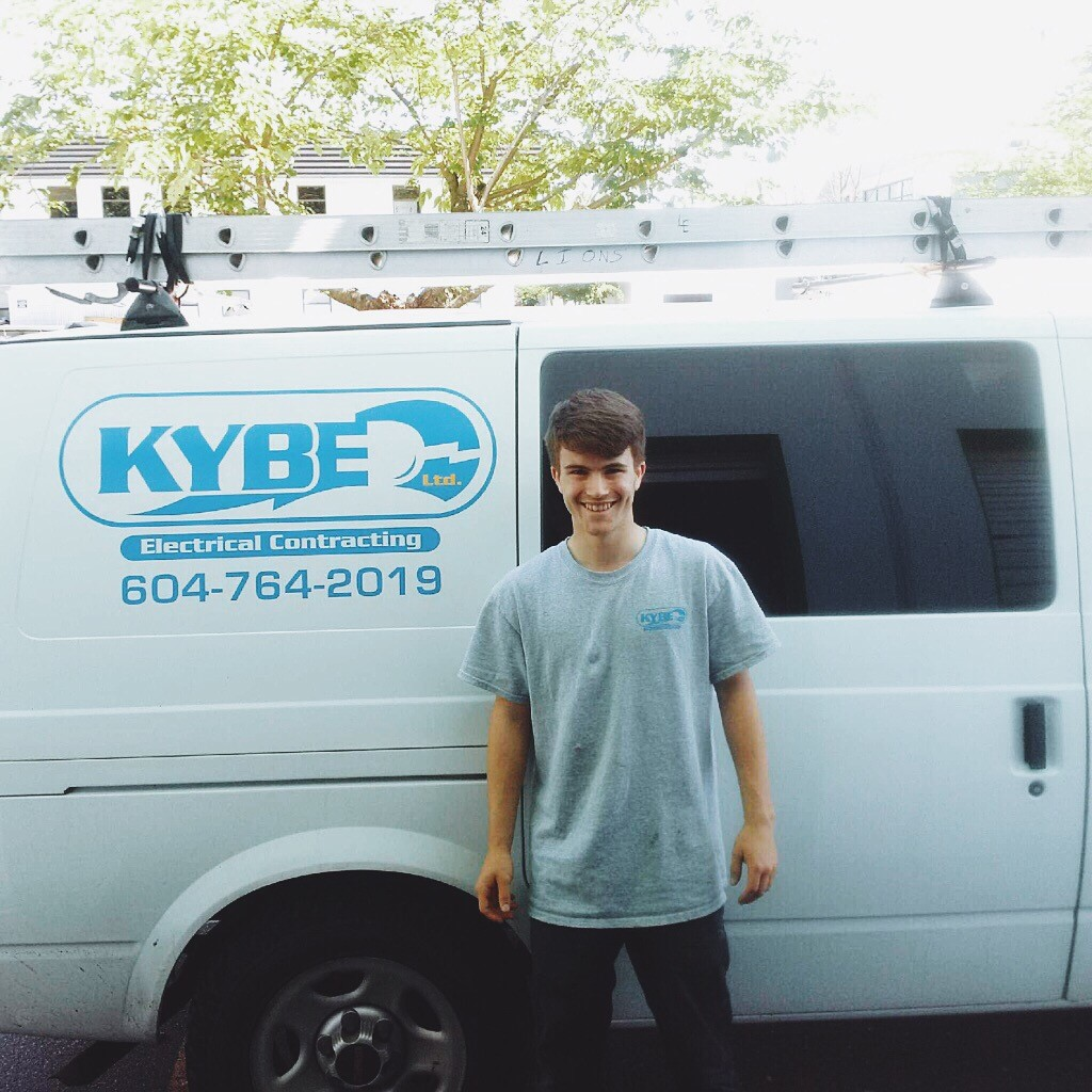 Sam Montgomery - KYBE's first student from the Argyle Secondary Co-Op Work Experience Program