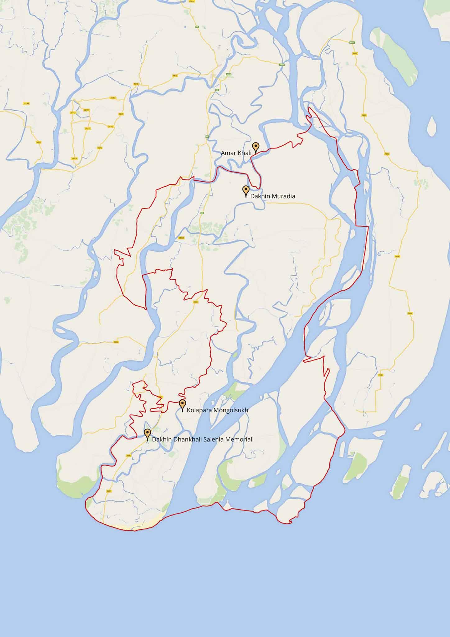 Sites visited