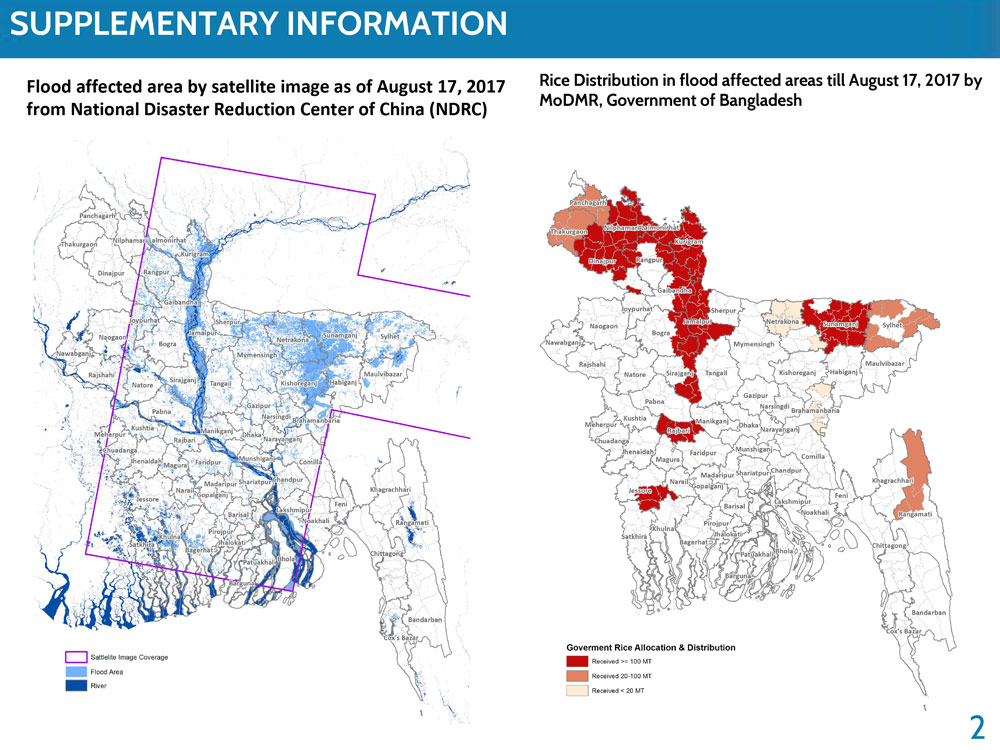 Flood affected areas