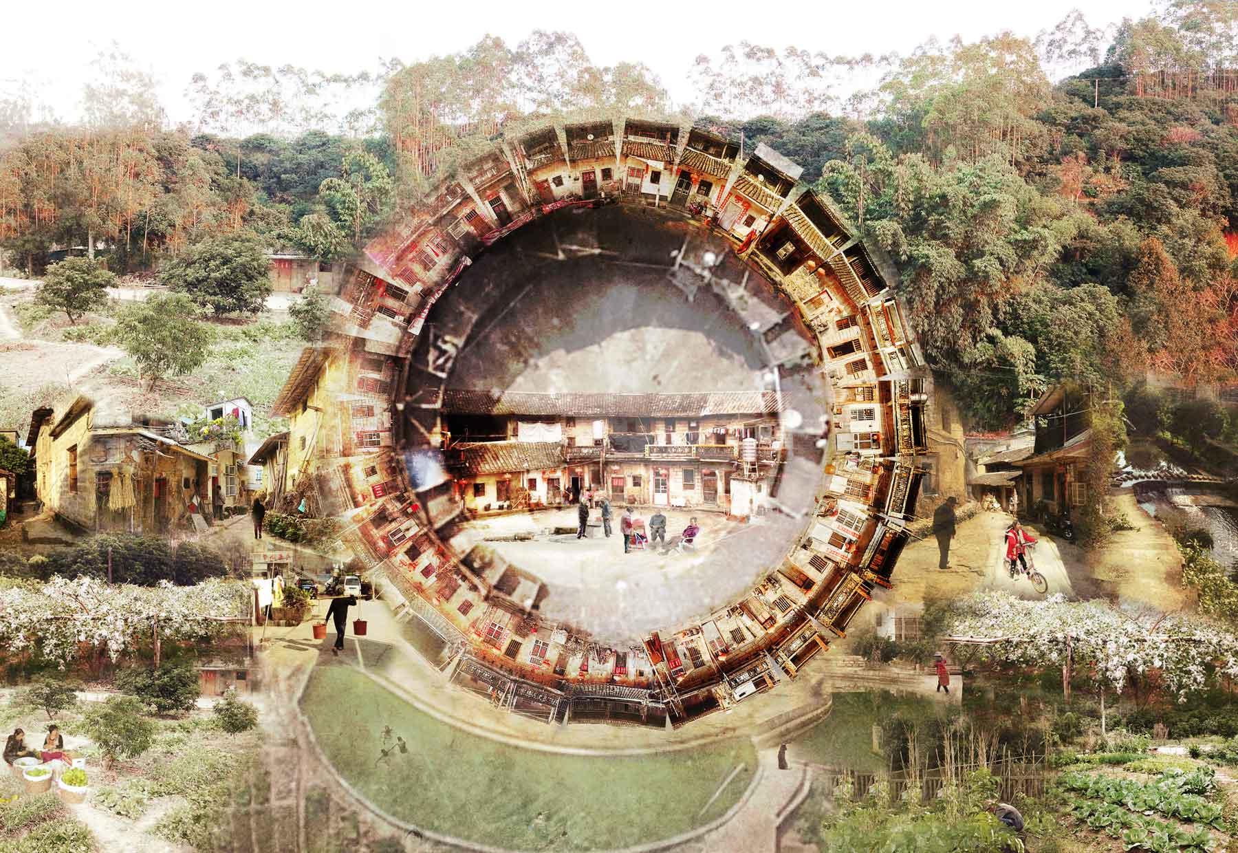 [ 7 ] Inside Dragon Taoshu Tulou    Yunxiao, Fujian province   Info via  Google Drive >>  Info via  Pan.Baidu >>
