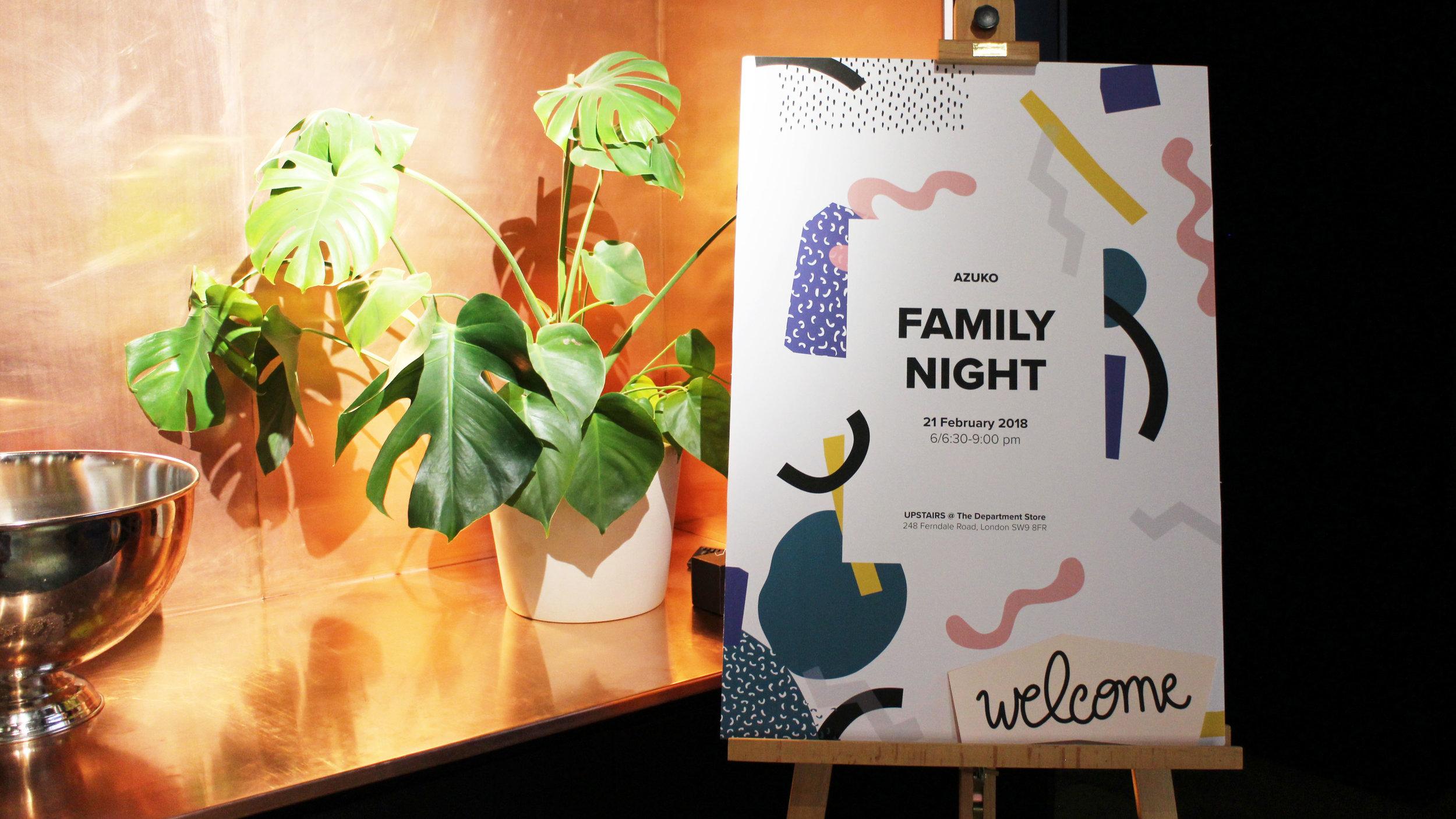 Welcome to AzuKo Family Night 2018