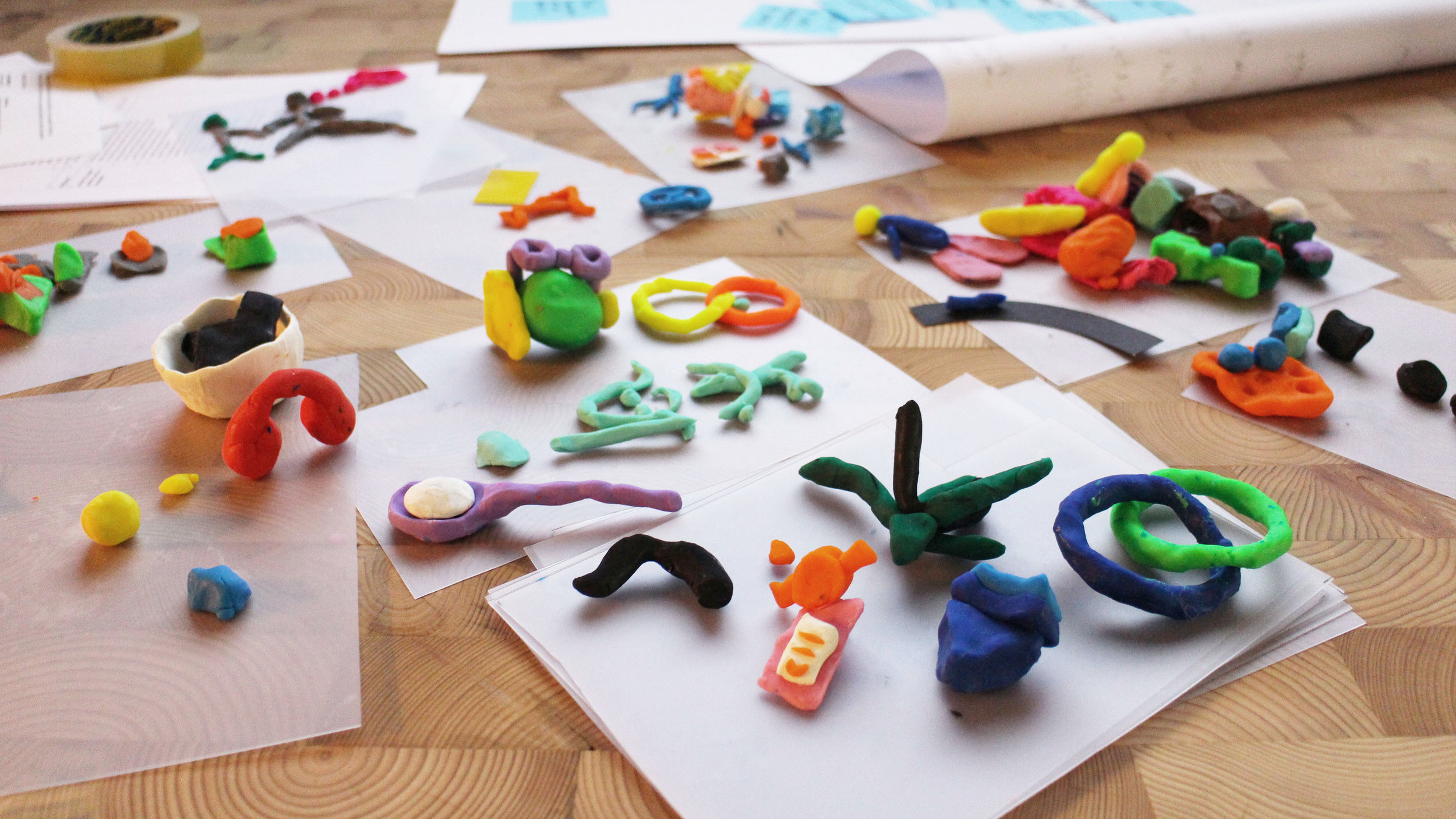 The icebreaker - personality playdoh - an amazing selection of sculptures inspired by each others SUPERstrengths