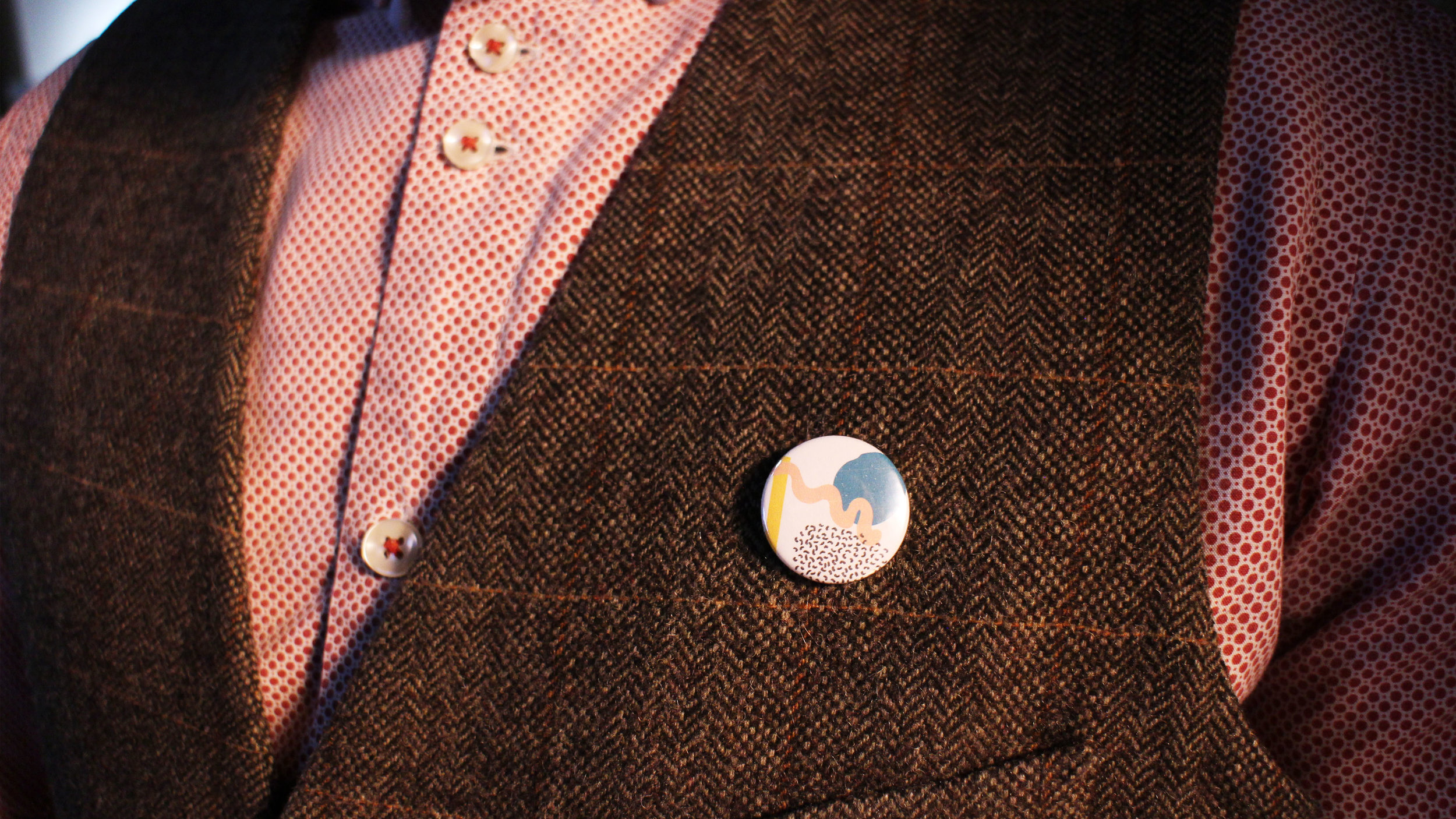 Personalised pins, adapted from Meyers Briggs Type Indicator