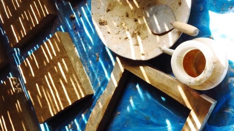 Earthen plaster testing