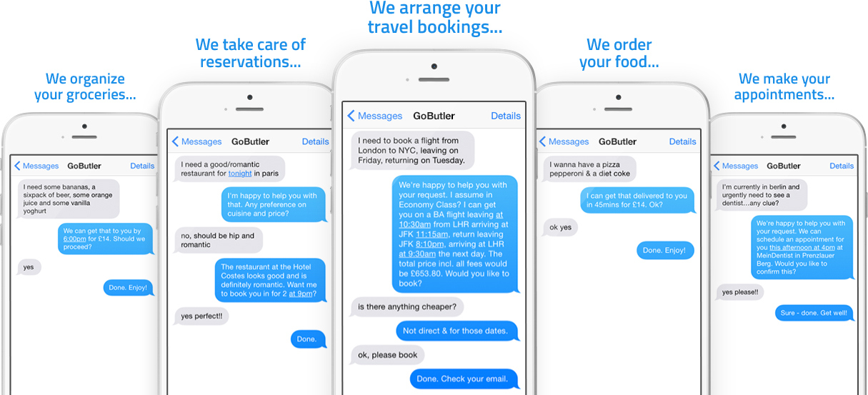 GoButler SMS functionality