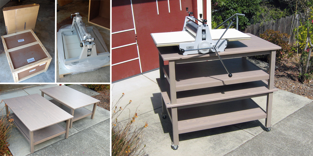 New Blick 999 Model II Etching Press and IKEA Bench