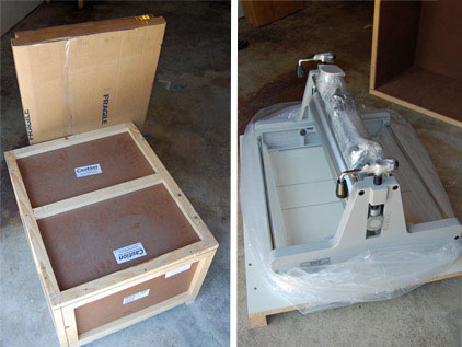 Delivery of my Blick 999 Model II Etching Press