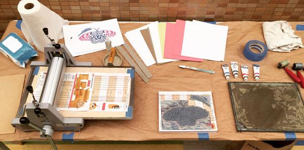 Blick Econo Etch Model II Press   used for an elementary school demonstration