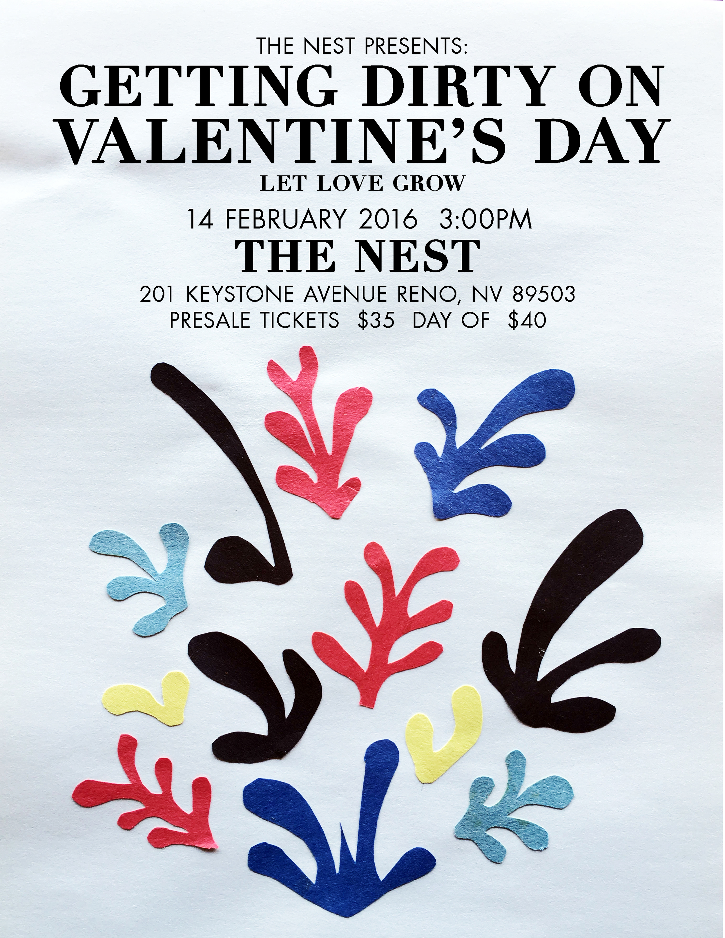 Valentine's Day Flyer Front