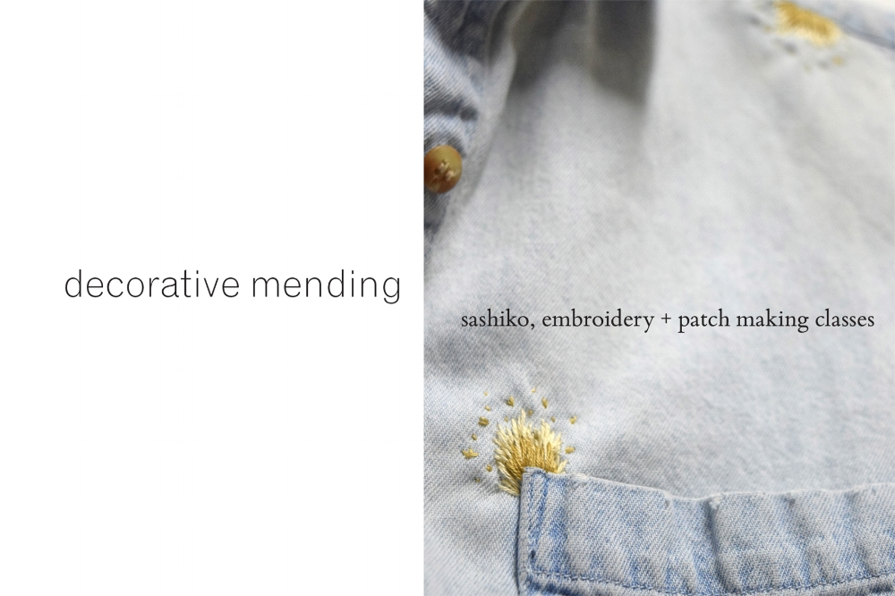 Decorative Mending Class at The Nest