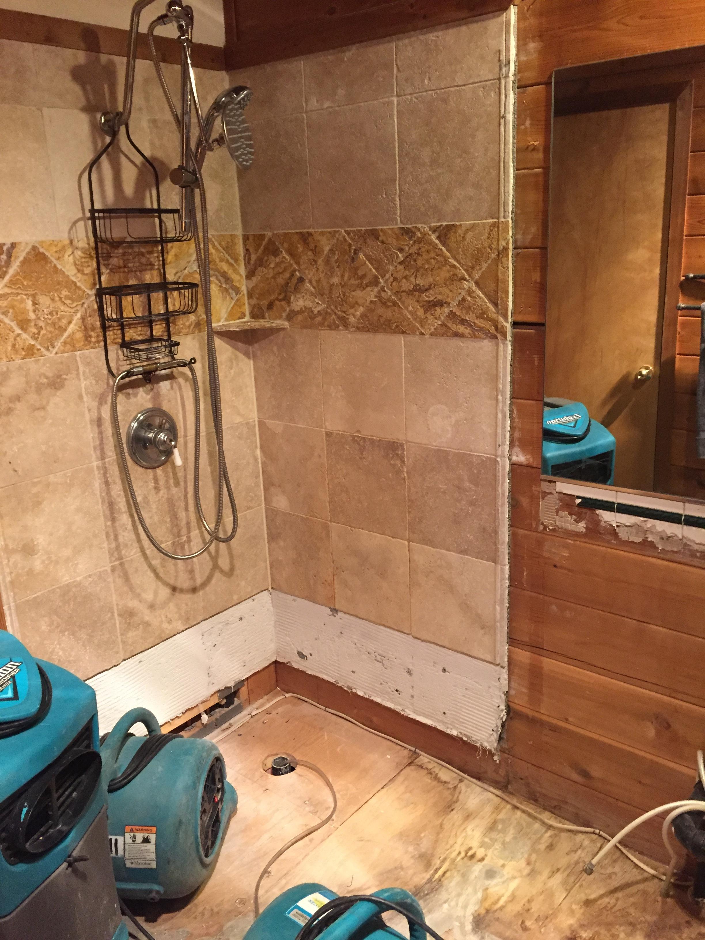 Bathroom torn apart