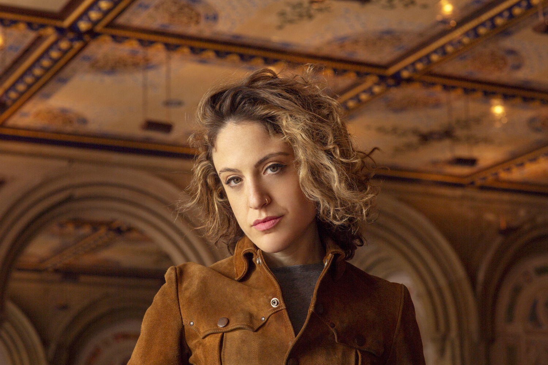 Lauren Weissler in a killer suede Nest jacket! Photo by Benjamin Maddox.