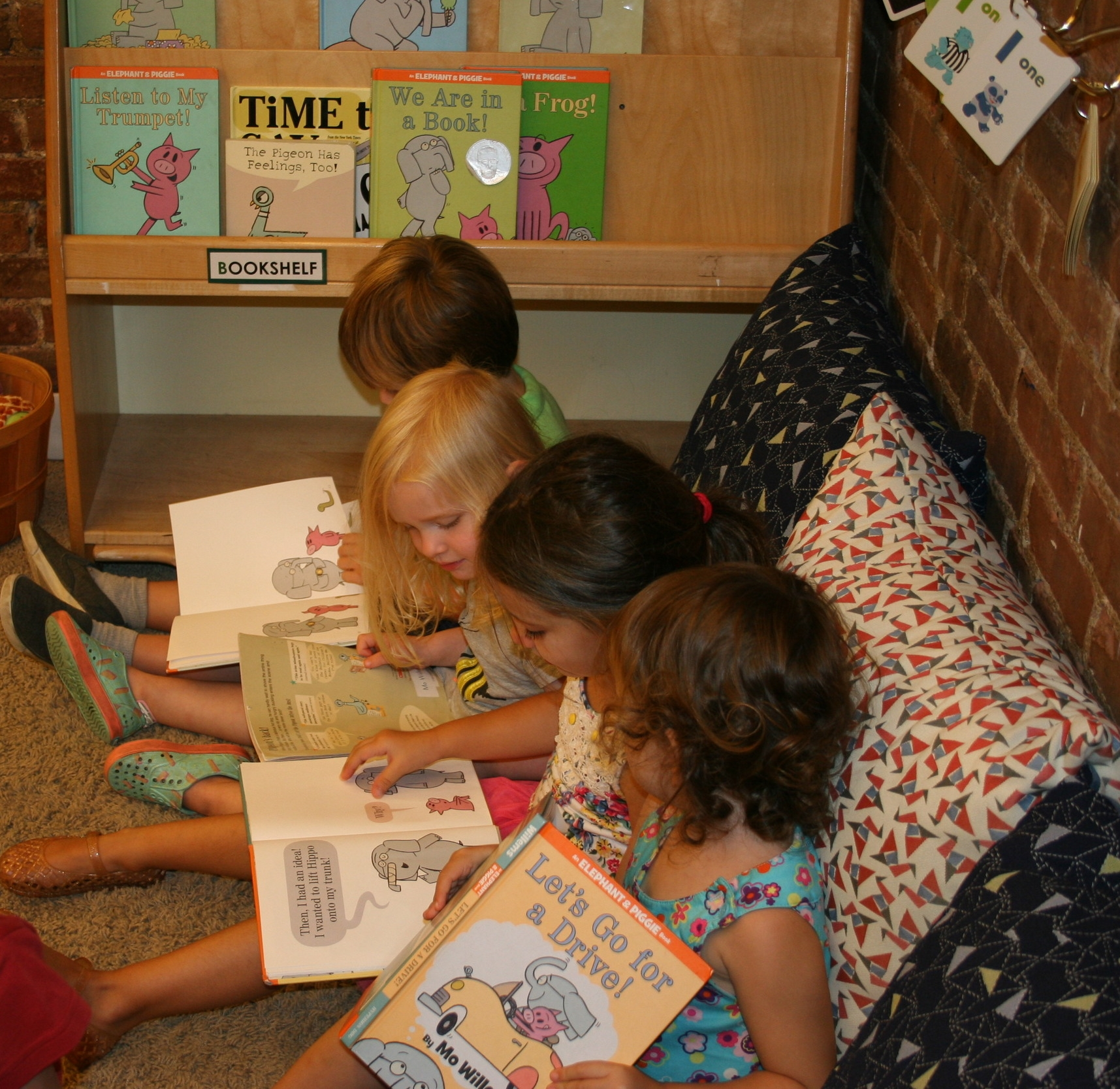 3/4s Students enjoy reading together