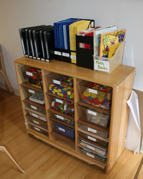 Materials and subject folders are readily available in this 8/9s room.