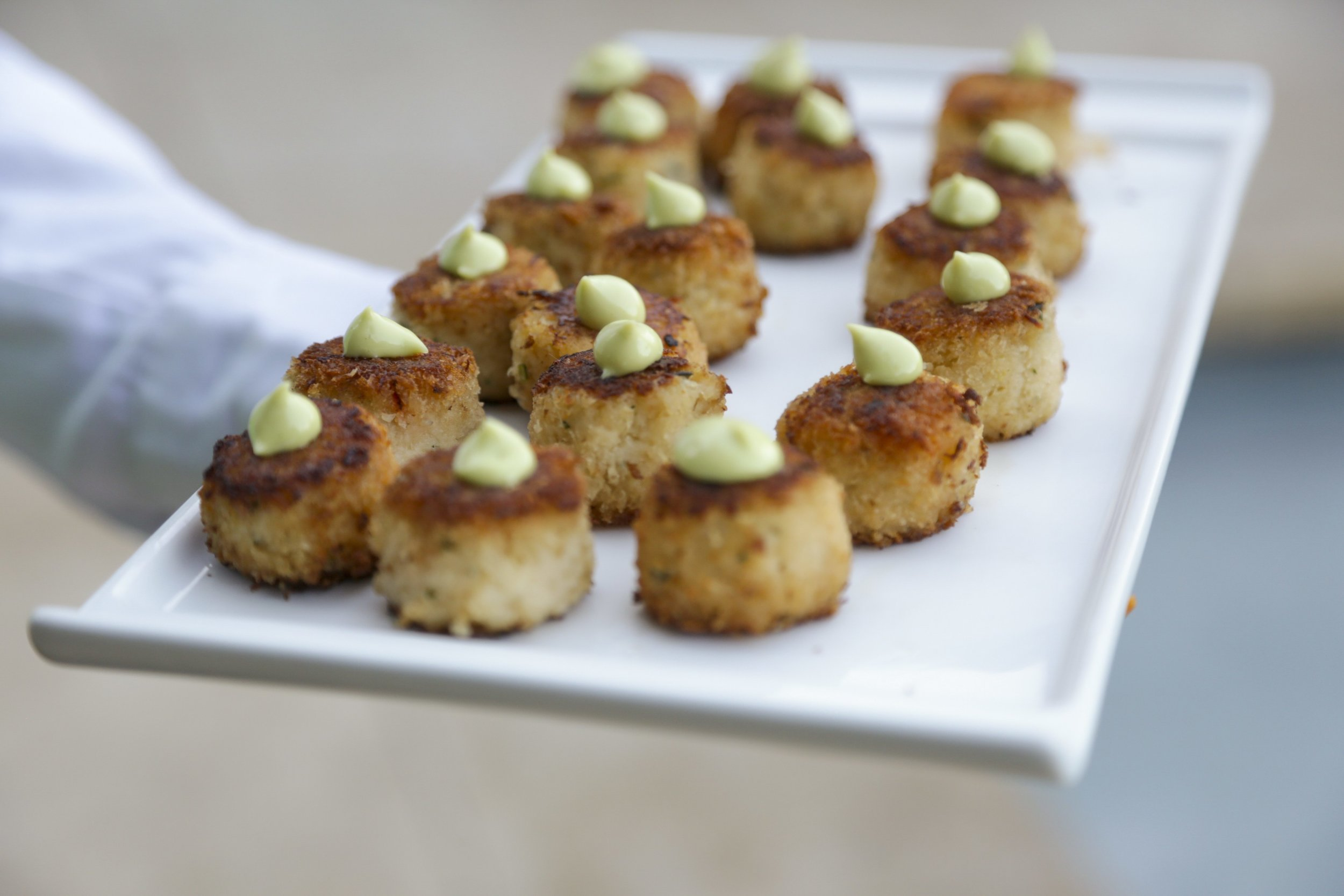 Miniature Dungeness Crab Cakes