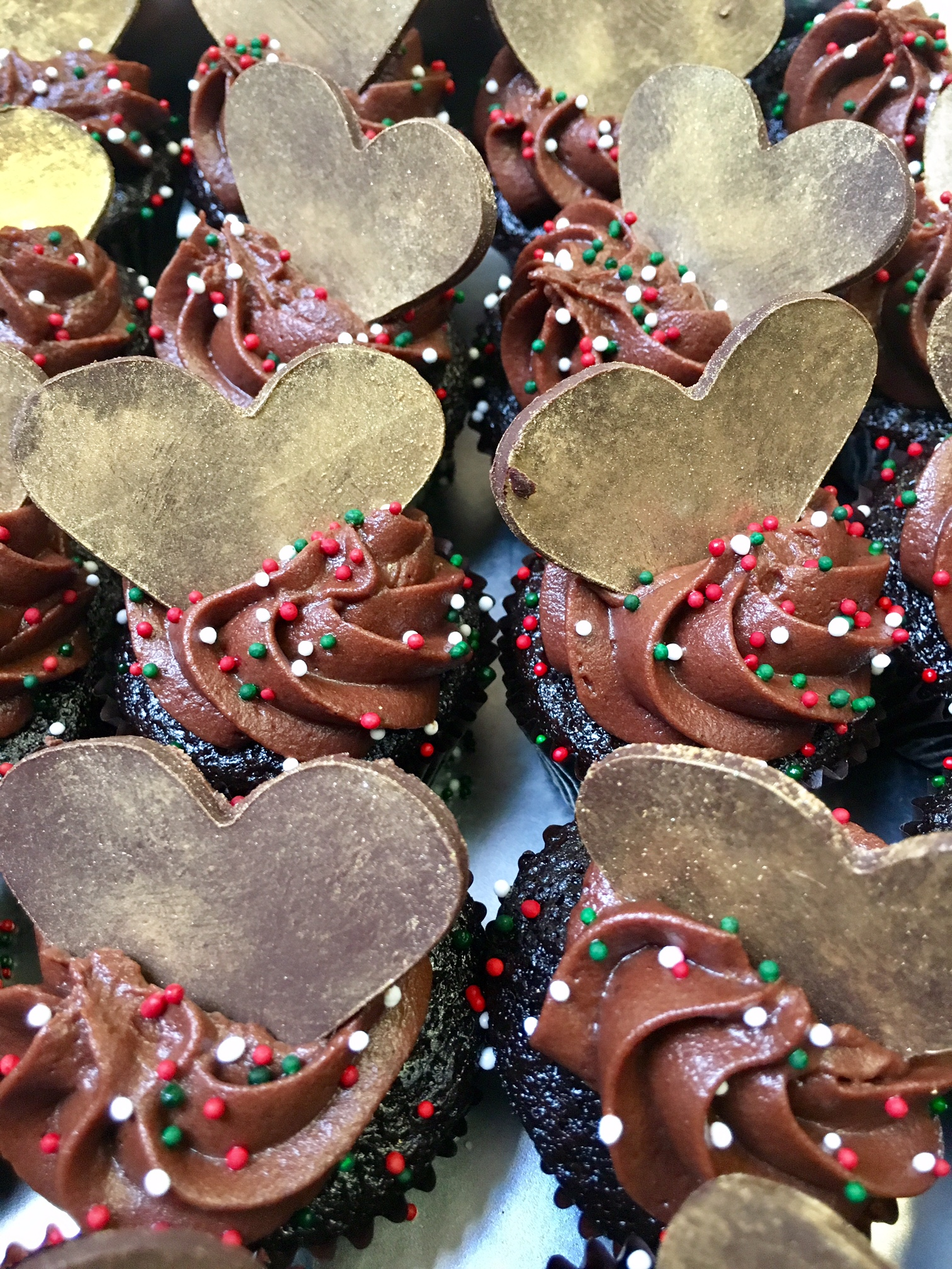 Chocolate Cupcakes topped off with Chocolate Frosting