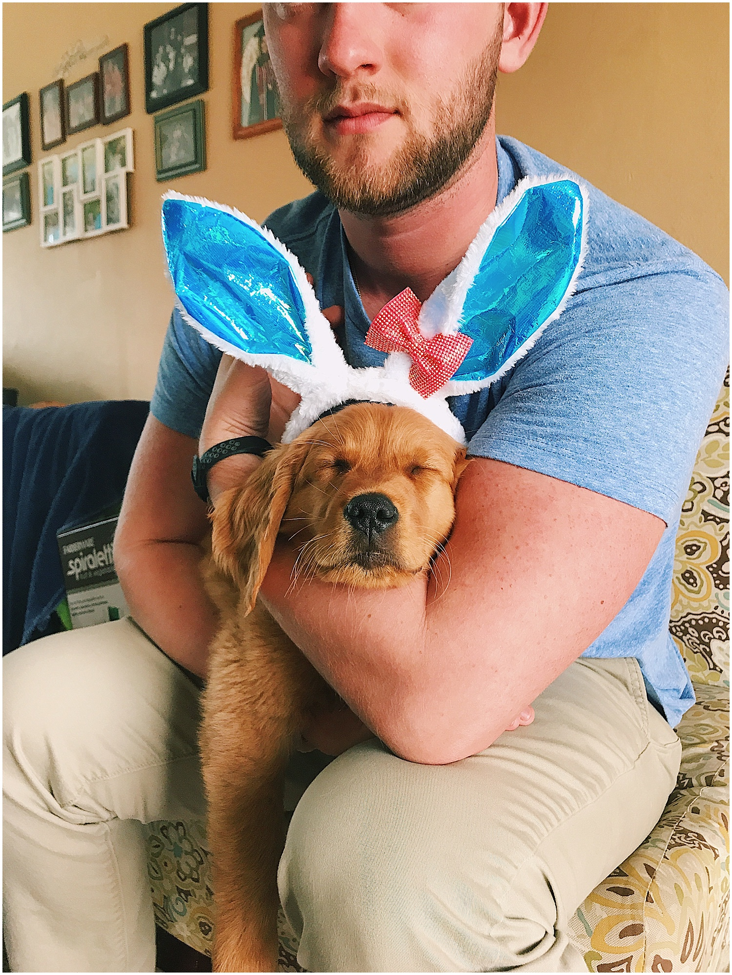 at the start of april was easter, dodger was thrilled