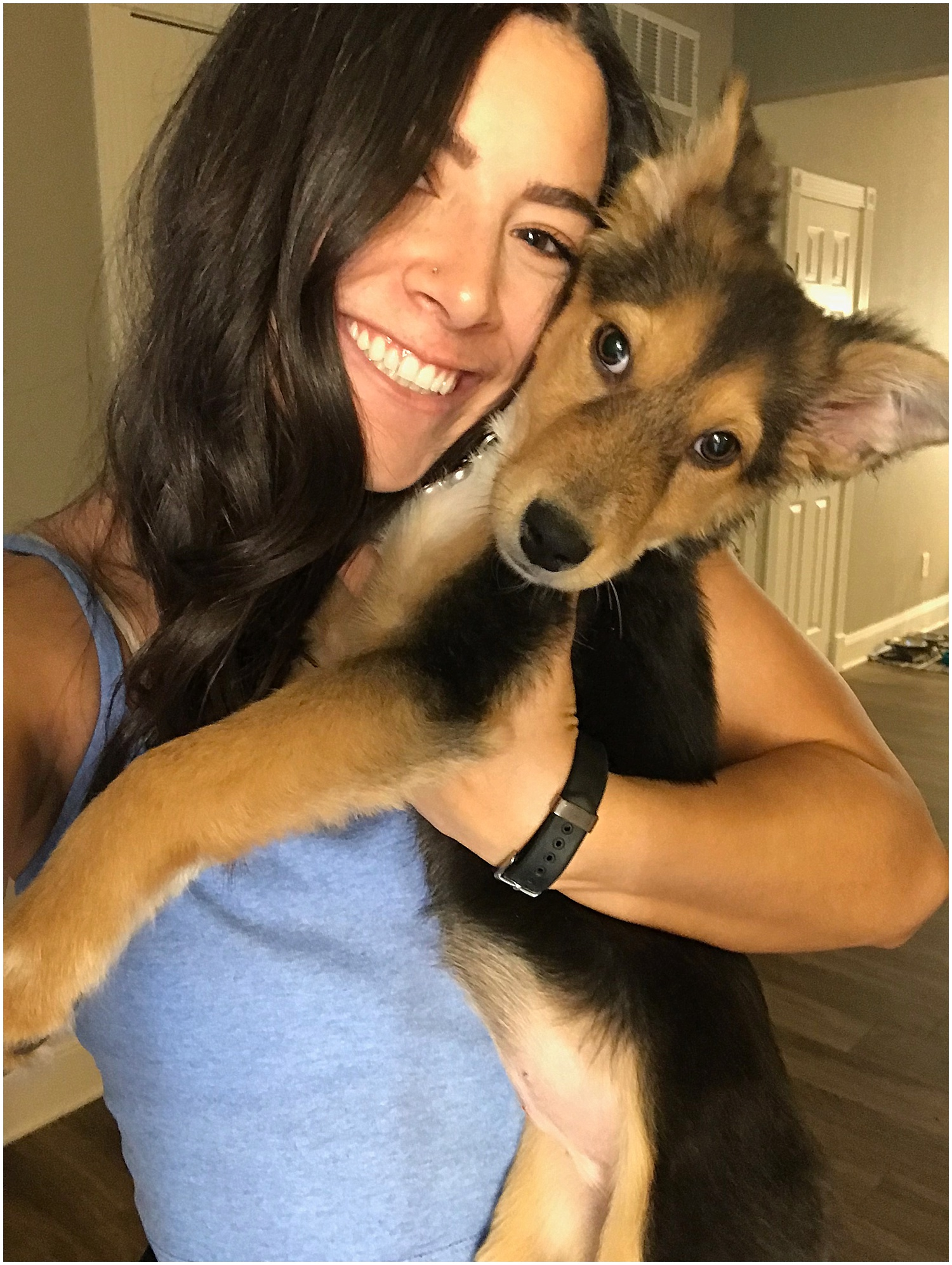 met his cute doggo Luna