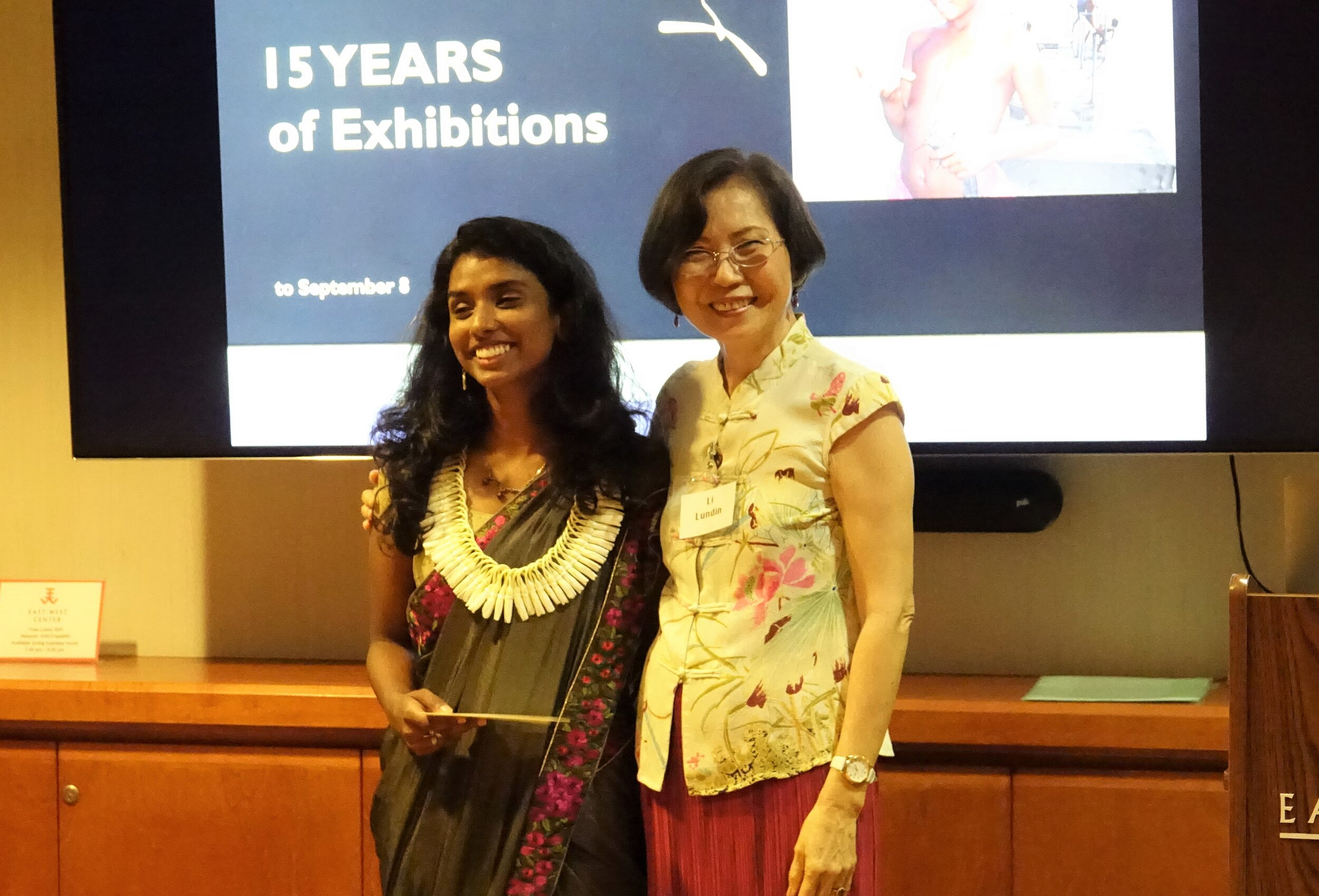 Miss Marina George received the Society's Rhoda E.A. Hackler Scholarship of $1,500 from President Li Lundin for the 2019-2020 academic year.  Marina is from India where she worked as a disability rights advocate and researcher, studying the effects of government education and health policies on Inclusive Education for children with disabilities within five states, across rural and urban settings. At UH Manoa she is pursuing a Master's degree in art history in South Asia. Prior to coming to Hawaii, she did a Graduate Internship at The Metropolitan Museum of Art in New York City.