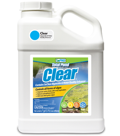 SePRO Total Pond Clear Algaecide and Water Quality Enhancer, Container.
