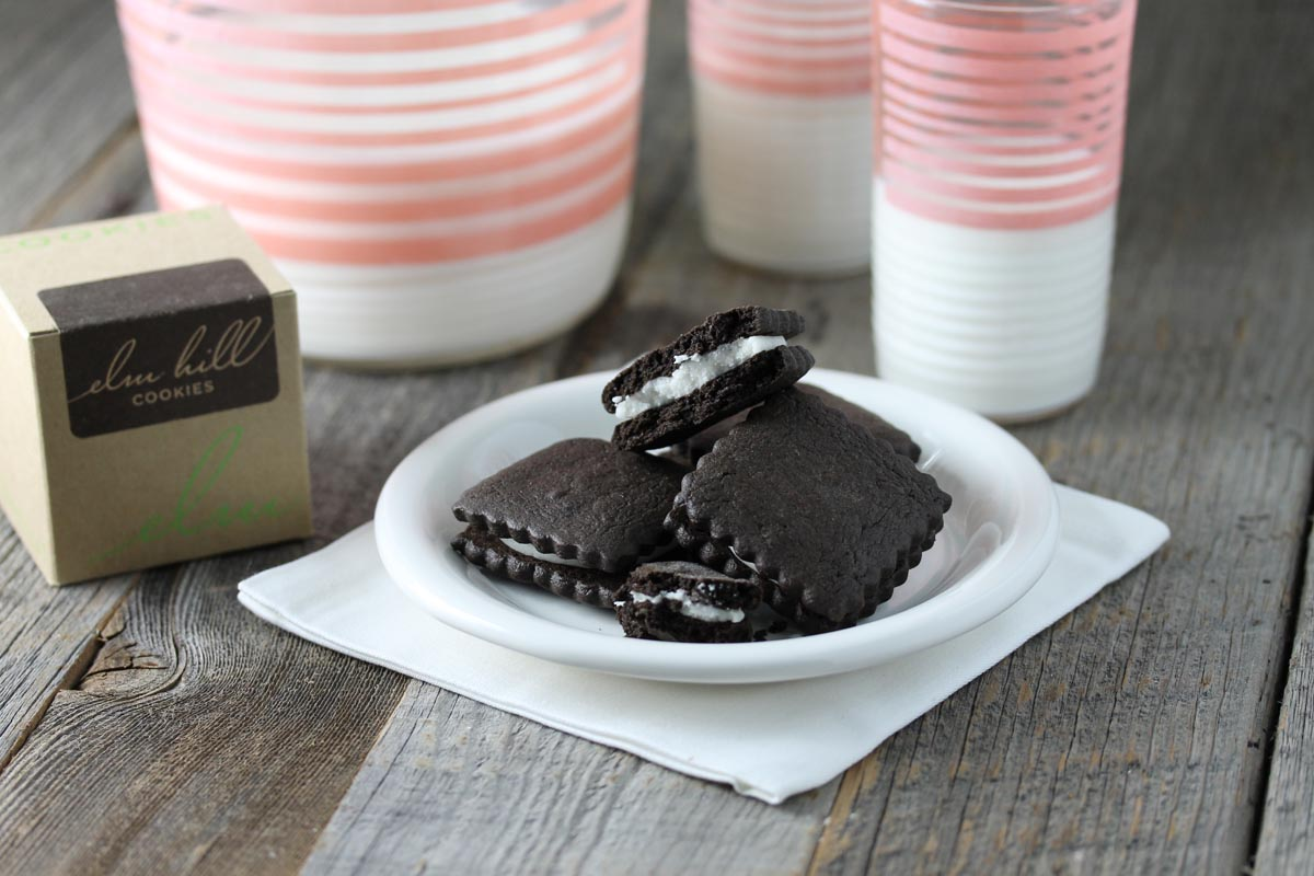 Chocolate Sandwich Biscuit with Vanilla Bean Filling