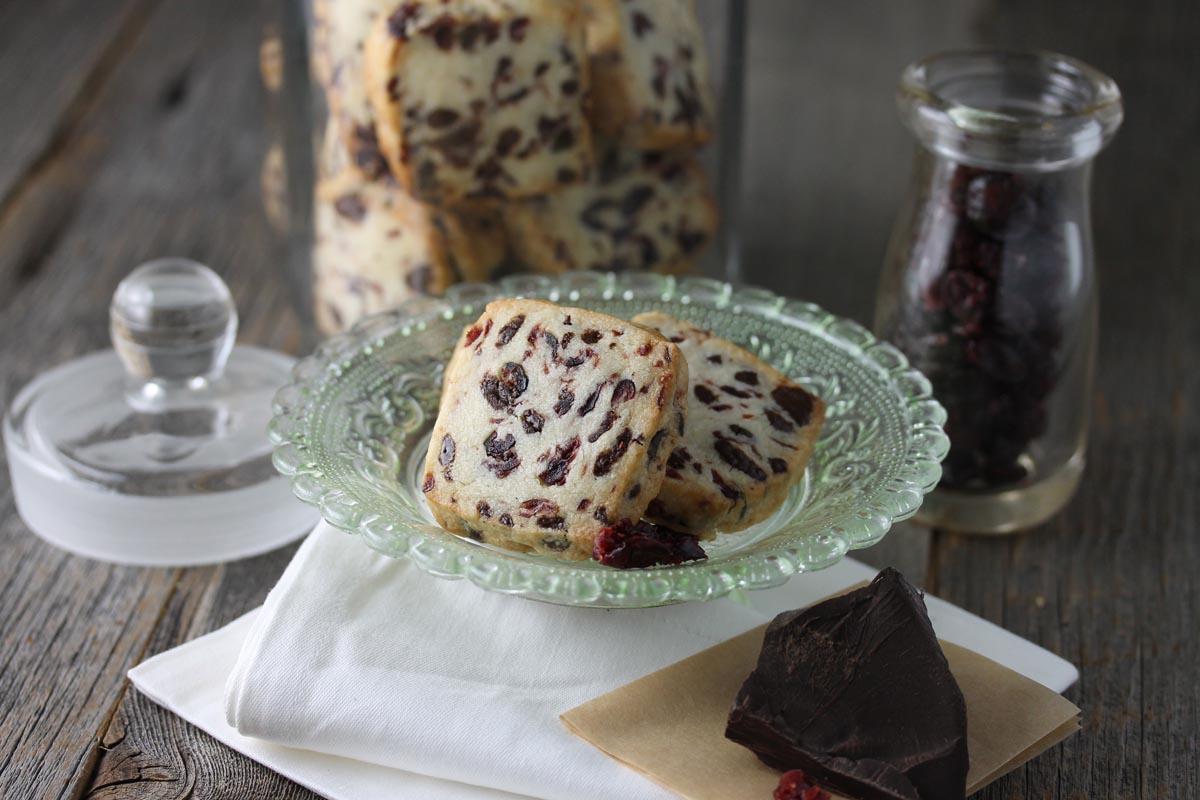 Dark Chocolate Cranberry Shortbread