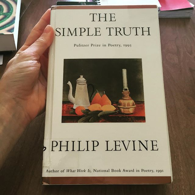 PSA: Lovers of beautiful things, run, do not walk, to get this book. Each poem is a miracle. #philiplevineforlyfe #poetryiscool