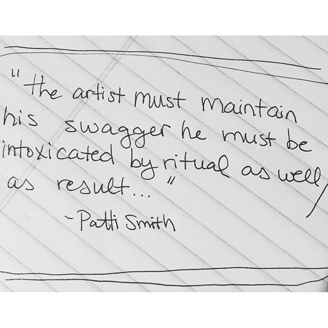 And just like that, Patti set me right. #pattismith #swagger