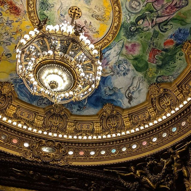 The aesthetics of opera have always baffled me, but I'm trying. Pretty nice digs, though. #marcchagall #dongiovanni