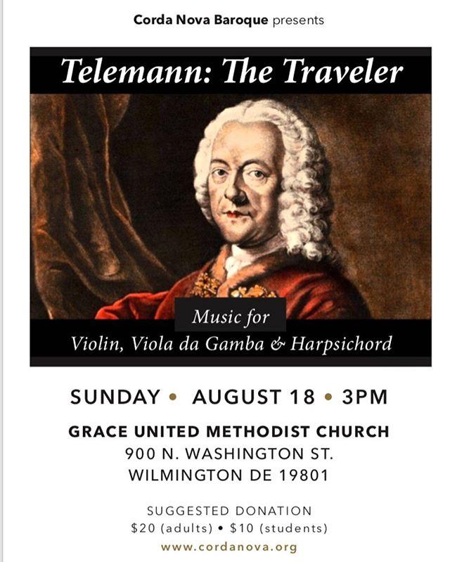 Next concert! #baroquemusic #violadagamba #baroqueviolin #harpsichord #telemann