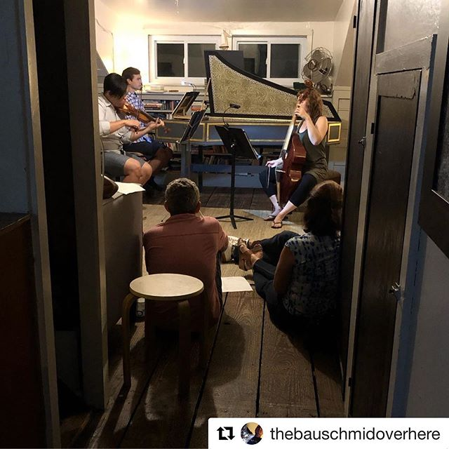We loved playing some favorite  #Telemann for our fantastic @Groupmuse audience at our #houseconcert last night @cordanovabaroque #baroquemusic #violadagamba #baroqueviolin #harpsichord