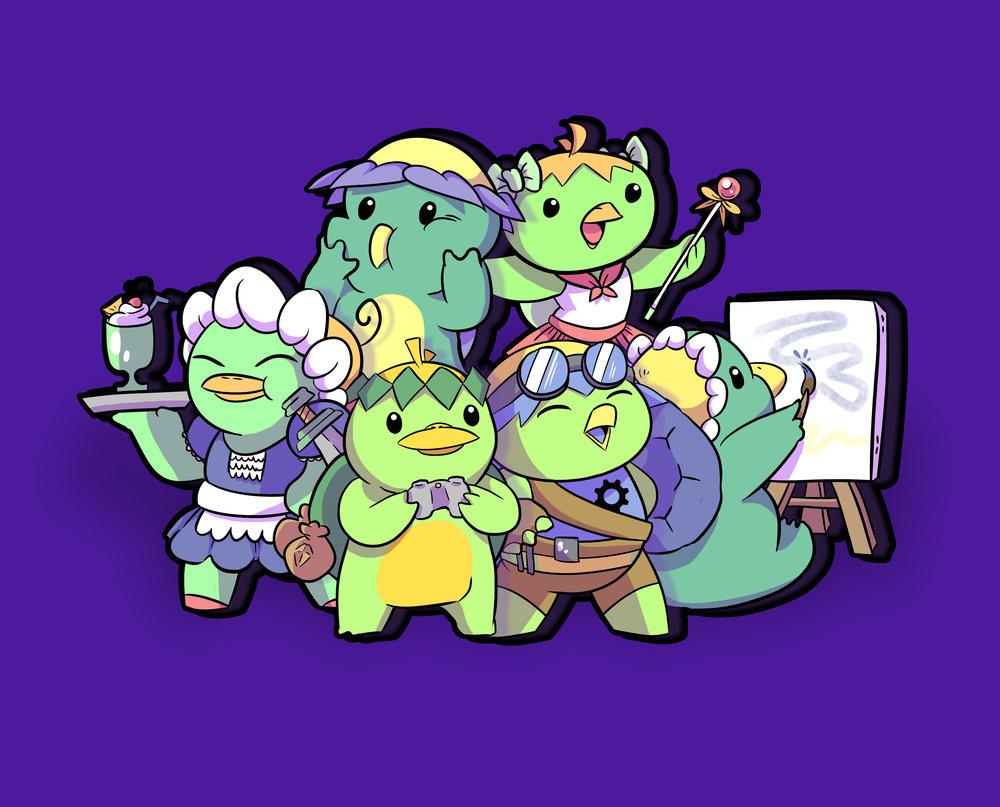 Mascot Illustrations for Kappa Kon