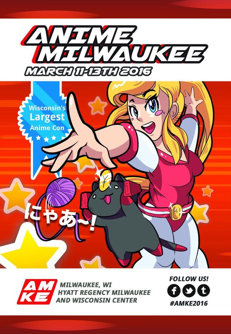 Postcard Illustration & Design for Anime Milwaukee