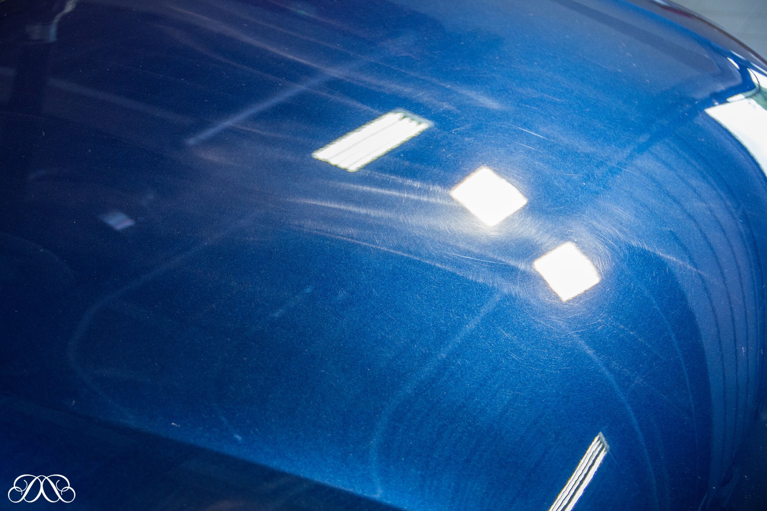 Trails left behind by Fleet Valeters at Audi Main Dealer when they attempted to remove a mark on the bonnet.