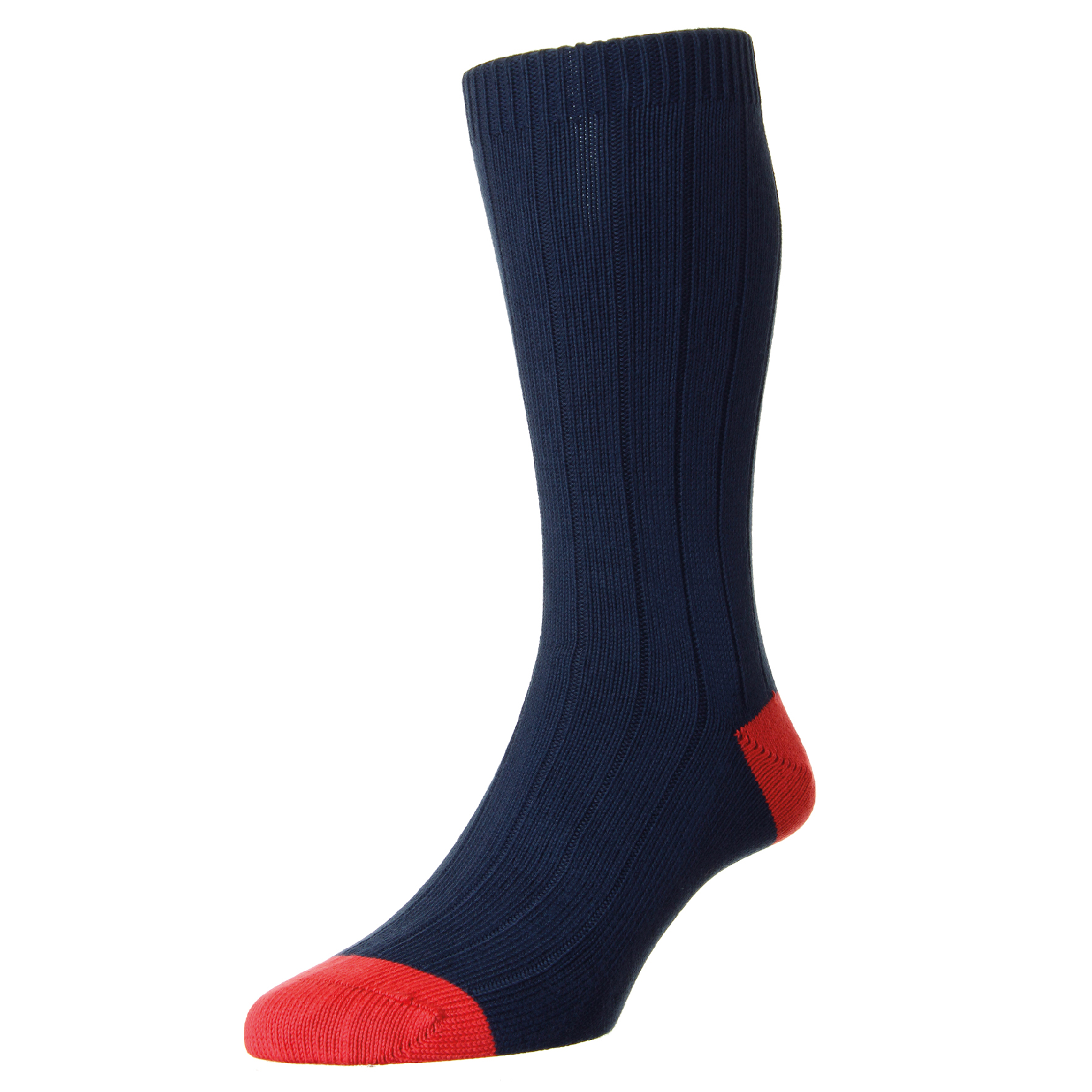 LAUNCHING OCTOBER 2016  RUG-NAV-PLN - Rugby Navy Chunky Cotton Sock  RRP £TBC  SIZES: Medium (6 - 9 UK), Large (9.5 - 12 UK)  OUT OF STOCK