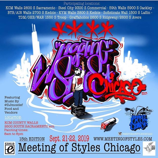 Having the rare opportunity to see someone else paint is a a great way to improve your own graffiti. This weekend is the Meeting of Styles! Follow @meetingofstyleschicago and see some amazing artists!!
