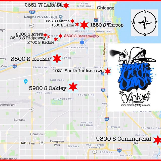 This just in!! We're happy to participate in @meetingofstyleschicago!!! We'll have artists at our @artreachchicago location 2651 w. lake St. And at our Overton location 4921 s. Indiana Ave!! Plus, our Overton location will also be part of the @chicagoarchitecturebiennial 🔥 🔥 🔥 Make sure to visit us along with all the other sites!!