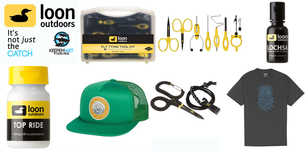 The healthy prize package courtesy of our friends at Loon Outdoors.    Fly Tying Tool Kit , Iconic Kit , Lochsa , Top Ride , Bearded Shirt , On The Swing Hat