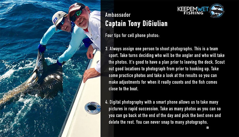 Keepemwet Ambassador Anthony DiGiulian releases a sailfish with IGFA President Nehl Horton. Leaders lead by example, 24/7 and 365 days a year.