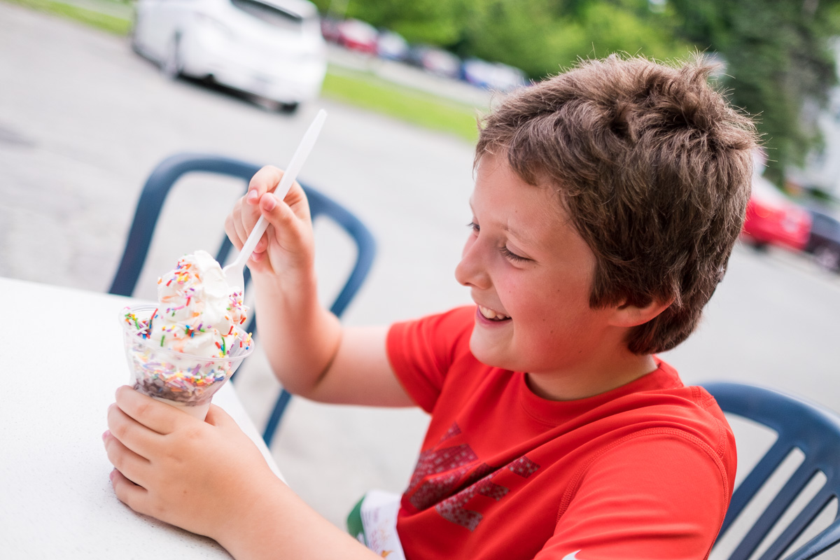 Crème glacée bien méritée