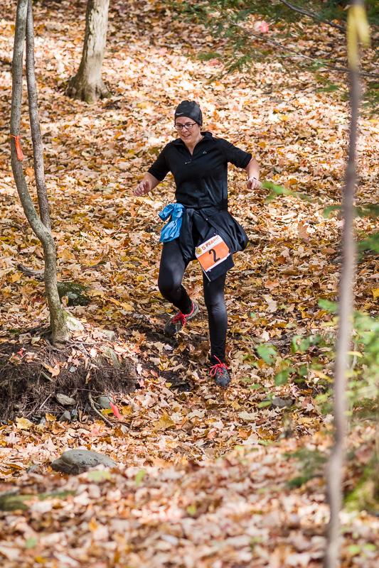 Edith au 10km du 5-Peaks Québec ce matin
