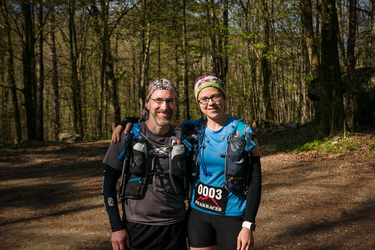 Edith et moi au départ du 50K :)