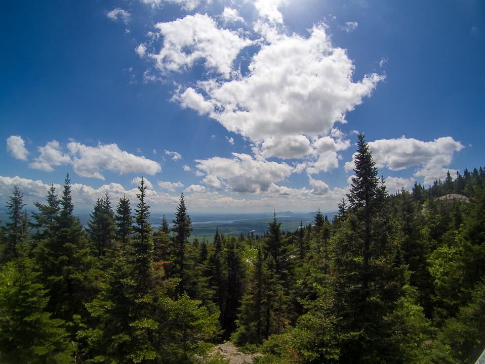 Au sommet du Mont Orford. Environ 19km parcourus.