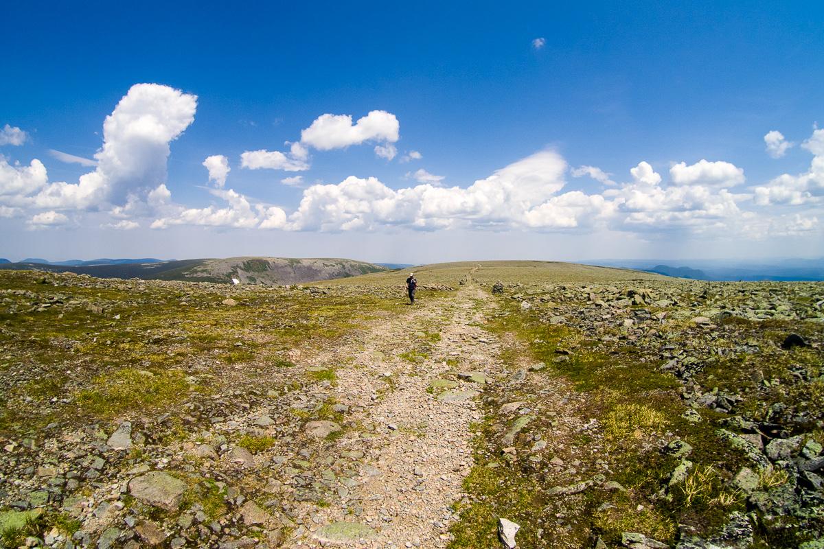 Sommet du Mont Jacques Cartier, en direction du ravito.