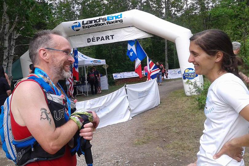 Raphaëlle qui m'a accompagné à la fin de la course