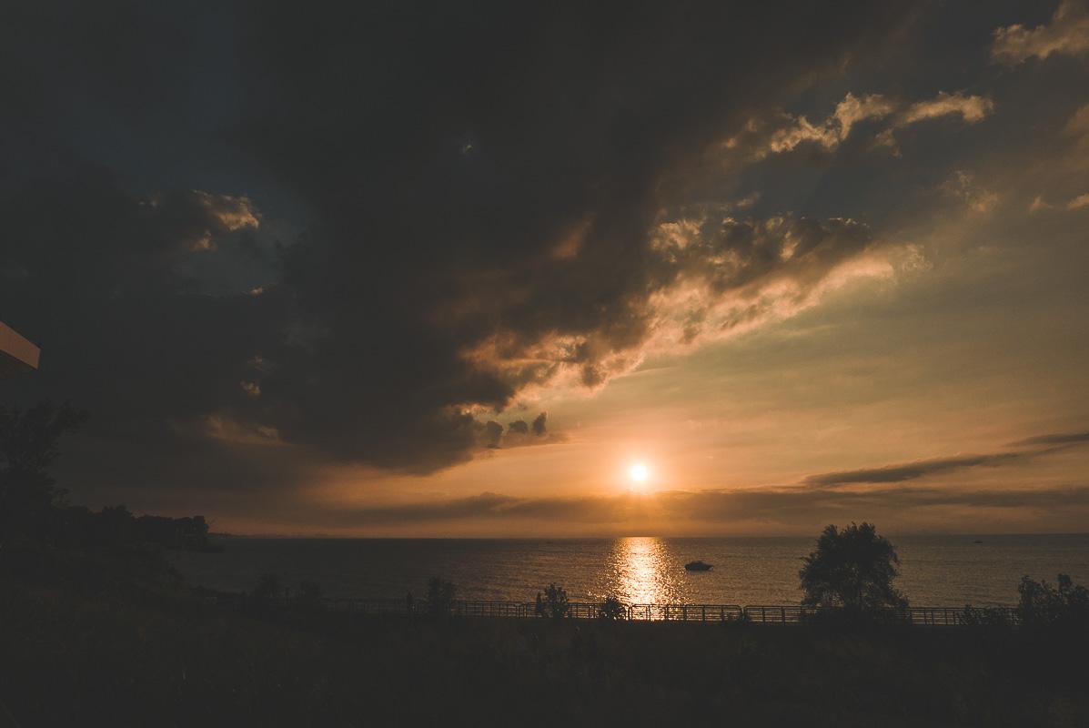 Coucher de soleil sur le Lac Michigan