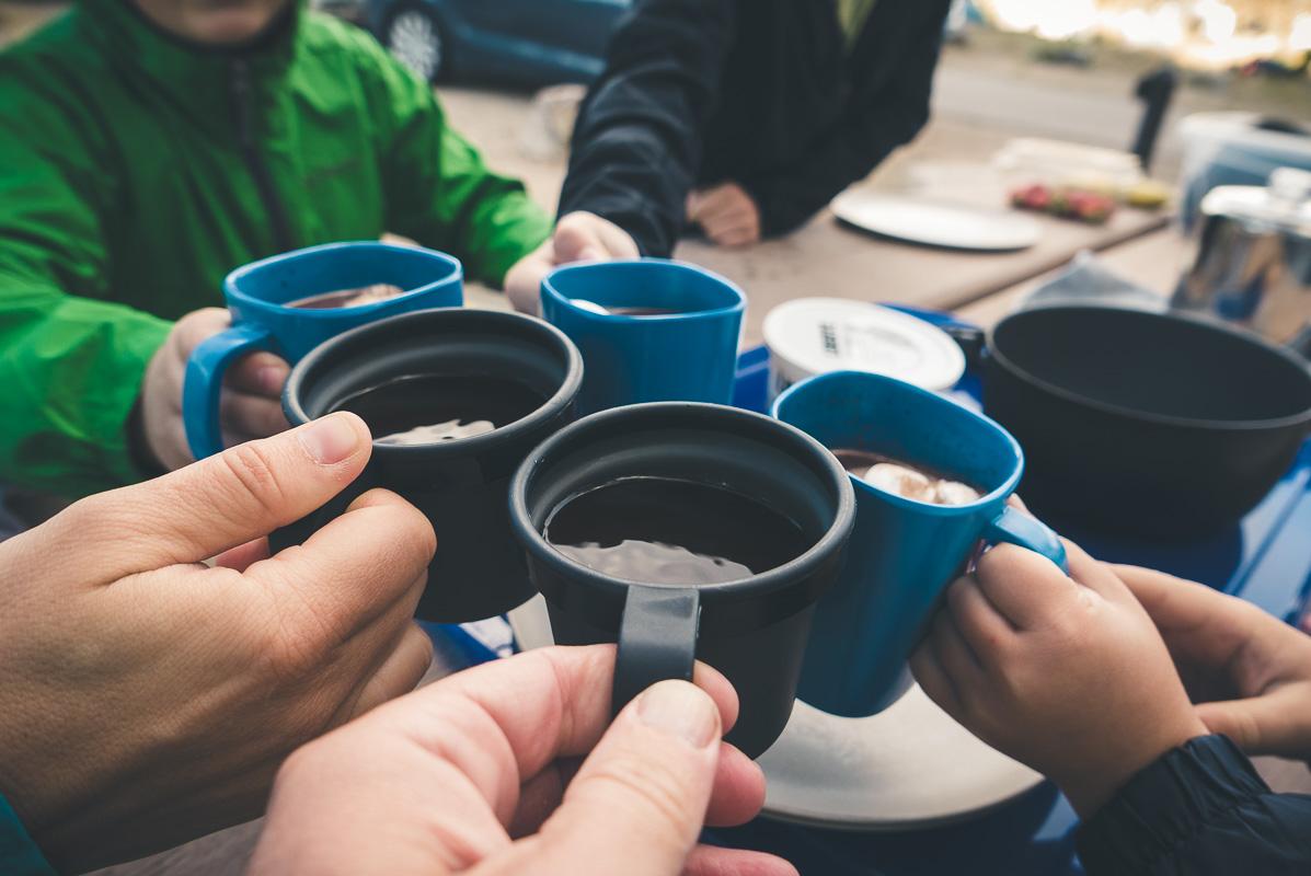 Rien de meilleur qu'un café/chocolat chaud en camping